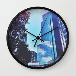 Mirrors show only sky Wall Clock