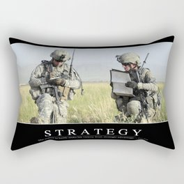 Strategy: Inspirational Quote and Motivational Poster Rectangular Pillow