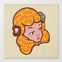 Girl Power Lady Lava Canvas Print