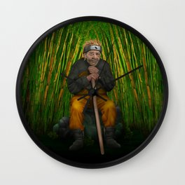 Old Ninja iPhone 4 5 6 7 case, pillow case, mugs and tshirt Wall Clock