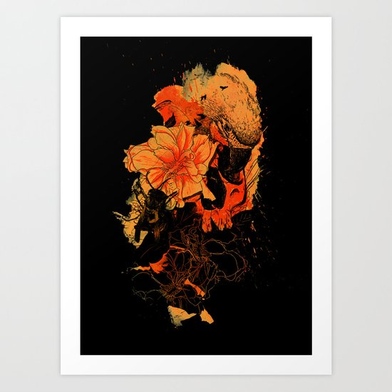 Pollination Dark Fire Art Print