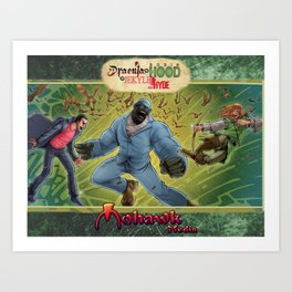 DRACULA VS. ROBIN HOOD VS. JEKYLL & HYDE! Art Print