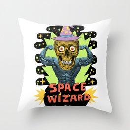 SPACE WIZARD Throw Pillow