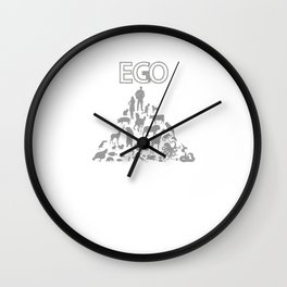 ECO or EGO - ECONOMIC or EGOISTIC Wall Clock