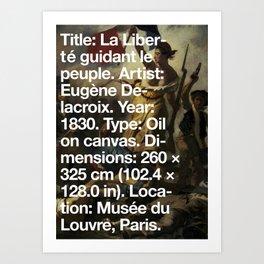 Liberty Leading the People, Eugène Delacroix, Musée du Louvre, Paris  Art Print