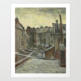 Vincent Van Gogh - Houses seen from the back Art Print