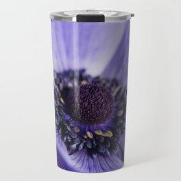 Blue Crown Anemone Travel Mug