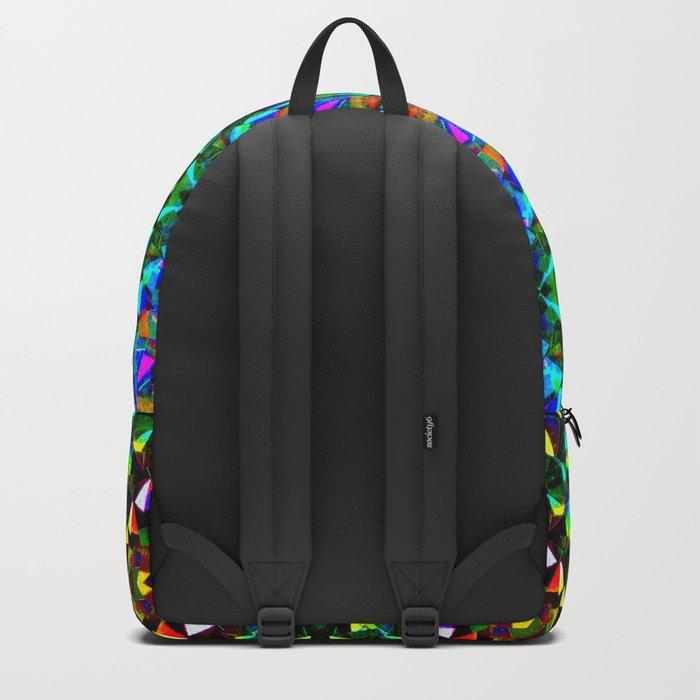 Glittering Kaleidoscope Mosaic Pattern Backpack