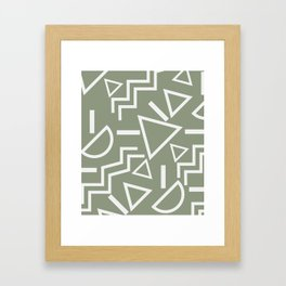 Shapes- lost and found Framed Art Print
