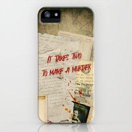 Murder Board iPhone Case