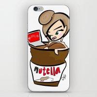 netflix iPhone & iPod Skins featuring Nutella & Netflix Brunette by Honey Truffle Co