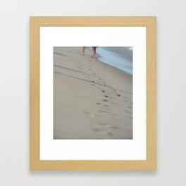 Beach Feet Framed Art Print