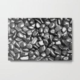 Glistening Gravel Metal Print