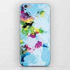 One Colourful World / Blue iPhone & iPod Skin