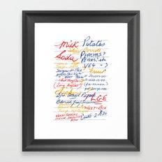 Grandmother's Shopping List Framed Art Print
