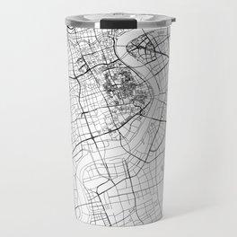 Shanghai White Map Travel Mug