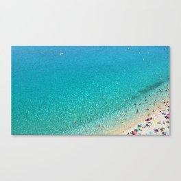 italian beach Canvas Print