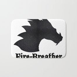 Fire-Breather (I'd back up - it's allergy season) Bath Mat