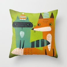 STOCKING CAPS Throw Pillow