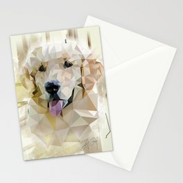 Golden Retriever (Low Poly) Stationery Cards