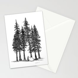 Camping with giants Stationery Cards