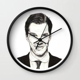 Benedict Cumberbatch (Ink portrait) Wall Clock
