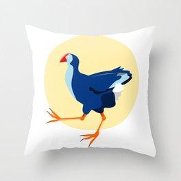 Pukeko Swamp Hen Throw Pillow