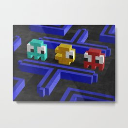 Pac-Man's dilemma Metal Print
