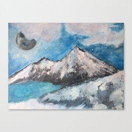 Moonrise Mountains Canvas Print