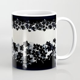 Black and White Confetti Stripe Coffee Mug