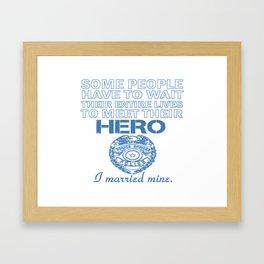 Police Officer's Wife Framed Art Print