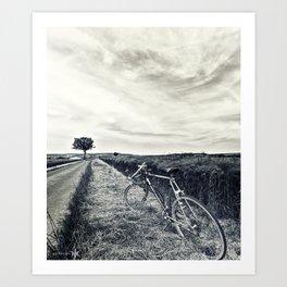 Bike in the Field Art Print