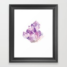 Amethyst Cluster Framed Art Print