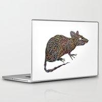 techno Laptop & iPad Skins featuring Techno Rat by mariotarrago
