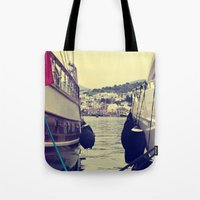 sailing Tote Bags featuring sailing by gzm_guvenc