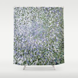 Sage and Lilac Waves Juul Art Shower Curtain