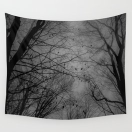 Tree of black Wall Tapestry