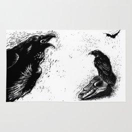 Halloween Raven Rug