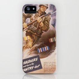 Vintage poster - U.S. Infantry iPhone Case