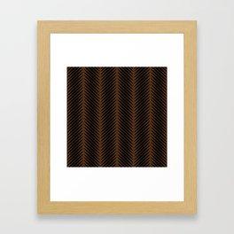 Palm Symmetry - Dark Earth Framed Art Print