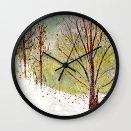 Spring Snow in Dewdrop Holler Wall Clock
