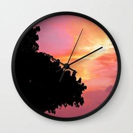 Divi Divi Tree Sunset Wall Clock