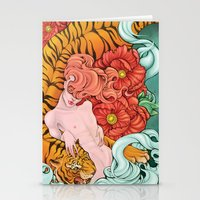 fierce Stationery Cards featuring Fierce by Kate Mana