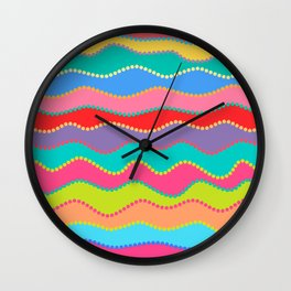 Wavy Dots Wall Clock