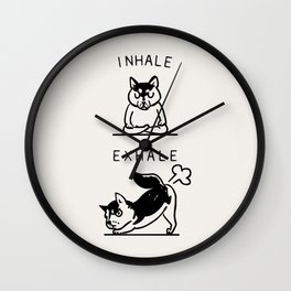 Inhale Exhale Husky Wall Clock