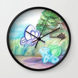 Butterfree And Bulba-saur Wall Clock