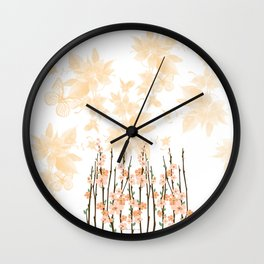 Flowers in Paradise Wall Clock