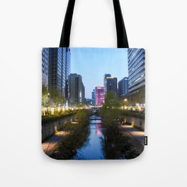 Stream at night Tote Bag