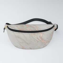 Marble - Rose Gold Marble Metallic Blush Pink Fanny Pack