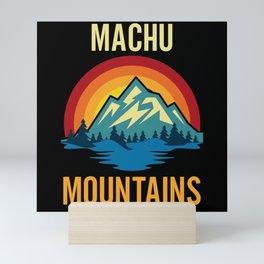Machu Mountains Sunset Mini Art Print